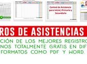 mejores registros control asistencia alumnos formatos (PDF, Word)