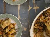 Pasta horno verduras garbanzos