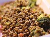 Lentejas brócoli curry