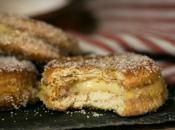 Galletas fritas rellenas crema