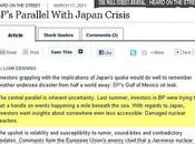 cinismo ofensivo Wall Street Journal analiza desastres Japón British Petroleum