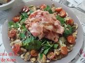 Ensalada espinacas mozzarella