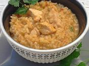 Guiso arroz integral pollo