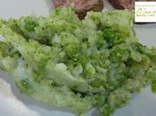Puré papas, brócoli guisantes Jamie Oliver
