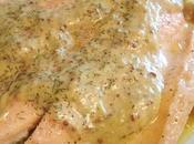 Trucha salsa mostaza eneldo