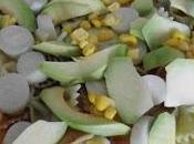 Ensalada pasta aguacate palmito