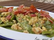 Ensalada judías verdes bacon nueces