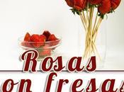 Como hacer rosas fresas para tartas