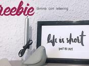 Freebie: Lámina lettering
