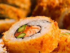 Receta sushi apanado. (con toque cebollín)