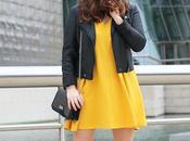 Outfit entre tiempo vestido amarillo