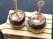 Pincho morcilla arroz queso cabra