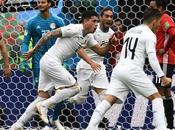 Uruguay venció Egipto último suspiro