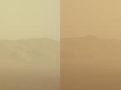 espesa tormenta Marte