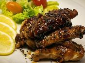 Alitas pollo soja miel