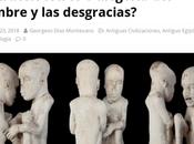 """Escultura egipcia """"Los niños hambrientos Saqqara"""". ¿Extraterrestres alegoría hambre desgracias?"""