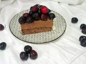 Cheesecake chocolate cerezas