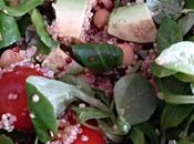 Ensalada nutritiva quinoa integral roja