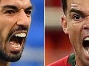 Uruguay-Portugal, Mundial Rusia 2018. Luis Suárez Pepe, cuando prepara para explotar