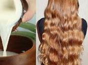 Leche coco para cabello