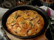 Focaccia patata, cebolla salvia harina integral, cena diferente