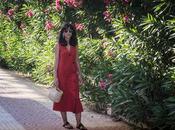 Look día: Vestido lino rojo