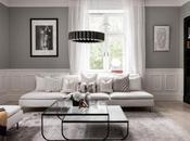 Salón elegante mueble gran tele