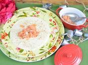 Receta rapida facil salmorejo esparragos blancos salmon