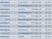 Calendario Chivas apertura 2018 futbol mexicano