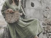 Boho green maxi dress