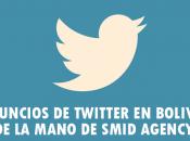 Anuncios Twitter Bolivia, mano SMID AGENCY