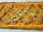 Pizza hojaldre atún setas Shimeji