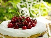 Tarta nata cerezas