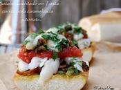 Bacalao confitado tosta cebolla carameliza tomate