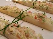 Espárragos rellenos salmón ahumado