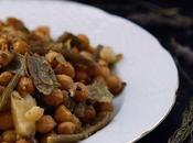Garbanzos judias especiadas salsa cacahuete