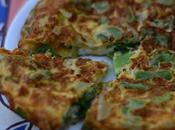 Maravillosa tortilla judías verdes cebollas