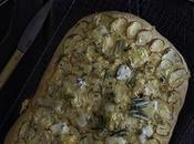 Focaccia patata queso gorgonzola {Gorgonzola potato focaccia}