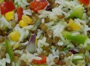 Receta fácil ensalada arroz lentejas