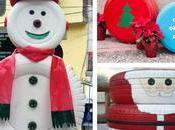 Ideas espectaculares para hacer adornos navideños reciclando llantas