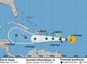 Isaac causaría fuertes aguaceros República Dominicana.