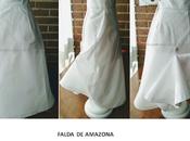 Patrón falda amazona