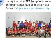 equipo Escuela Fútbol Base Angola comparte entrenamientos Deportivo