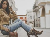Mustar shirt leopard booties