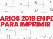 calendarios 2019 gratis para imprimir 【Descargar】