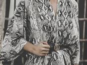 Snake print midi dress wear: animal
