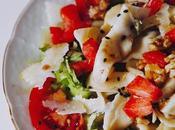 Ensalada pasta rellena espinacas ricotta