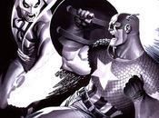 Increibles ilustraciones monocromáticas superhéroes