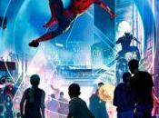 Detalles póster Marvel Super Hero Land para Disneylandia