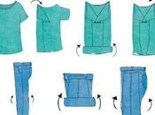 Doblar ropa para hacer maleta